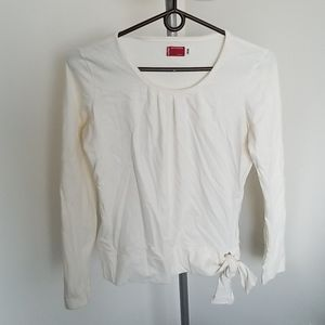 Levi's bow detail long sleeve top